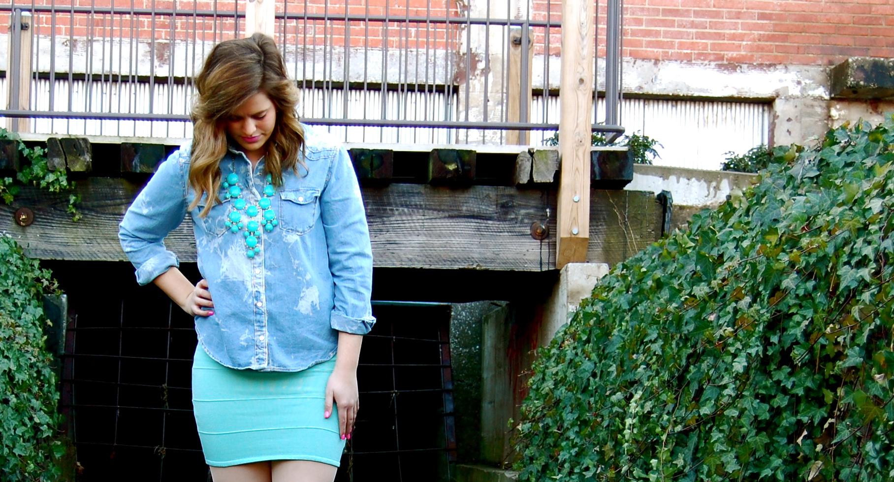 Tight denim mini skirt – Modern skirts blog for you